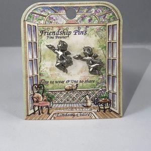 Vintage 4 pair Lindsay Clair Pewter Collectibles